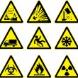 Stock Vector: Warning signs set