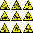 Warning signs set — Stock Vector