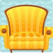 Yellow armchair — Stock Vector