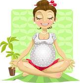 Yoga for pregnant woman — Stock Vector