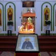 Candles and icon in the Church — Stock Photo #4004206