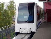 Monorail train in Moscow — Stock Photo