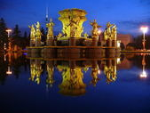 Fountain Friendship of nations - Moscow — Stock Photo