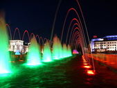 Color Fountains in Kazan. Night view — Foto Stock