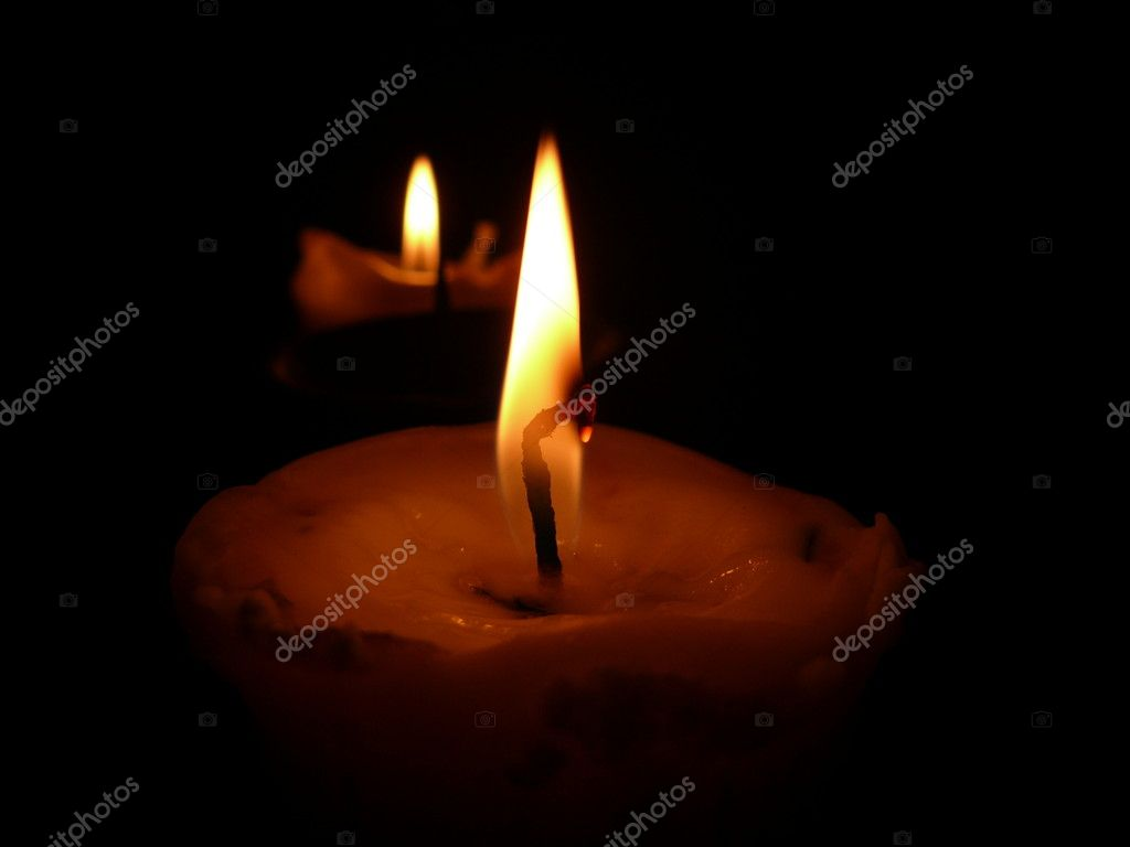 Flame of the candles — Stock Photo #4634123