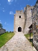 Entrance to The Strecno Castle — Stock Photo