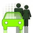 Car and couple — Stock Photo #4816510
