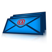 Email correspondence — Stock Photo