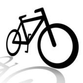 Bicycle silhouette — Stock Photo