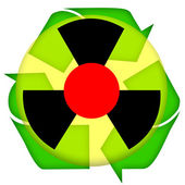 Nuclear icon — Stock Photo