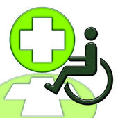 Handicapped Person — Stock Photo