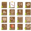 Wooden icons — Stock Vector #3944548
