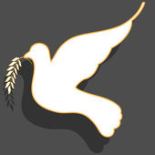White dove — Stock Vector