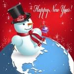 Snowman — Stock Vector #4078260