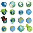 Icons globe — Stock Vector