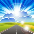 Road - Stock Vector