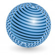 Blue ball — Stock Vector