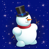 Boneco de neve — Vetorial Stock
