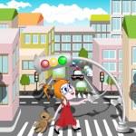 Pedestrian crossing — Stock Vector