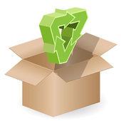 Box and arrow — Stock Vector