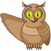 Wild owl — Stock Vector