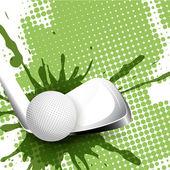 Ball for golf — Vector de stock