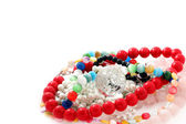Arts and Crafts multi-colored Beads — Stock Photo
