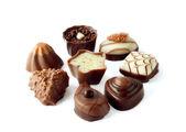 Coleção de belas deliciosos bombons de chocolate — Foto Stock