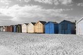 Cabanas de praia — Fotografia Stock