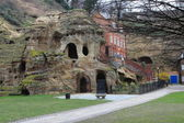 The caves at Nottingham castle — Stock Photo