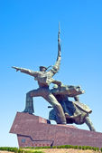 Monument to war in Sevastopol town — Stock Photo