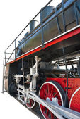 Vintage steam locomotive — Photo