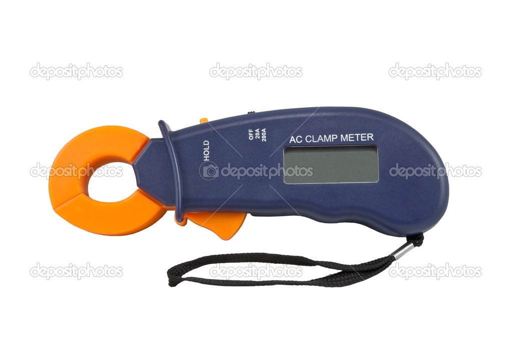 Digital  multimeter on a white background — Stock Photo #4877004