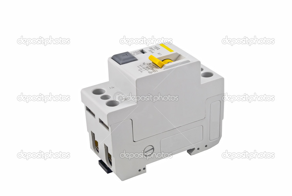 Automatic circuit breaker, isolated on a white background — Stock Photo #4927272