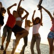 Party on beach — Stock Photo #4036894