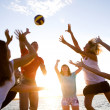 Stock Photo: Volleyball on beach