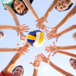 Volleyball on the beach — Stock Photo #4036966