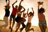 Plajda parti — Stok fotoğraf