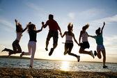 Festa sulla spiaggia — Foto Stock