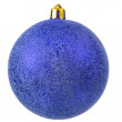 Blue christmas ornament . — Stok fotoğraf