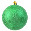Stock Photo: Green christmas ornament .