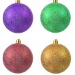 Collection of colored christmas ornament . — Stock fotografie