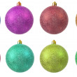 Collection of colored christmas ornament . — Stock Photo #4277638