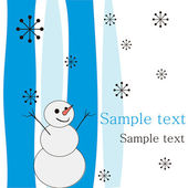 Joyful snowman. — Vector de stock