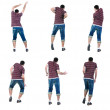 """Collection """"Young man dancing"""". Rear view. — Stock Photo #4750106"""