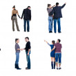"Collection ""Young couple looks where that"". Rear view. — Stock Photo #4750139"