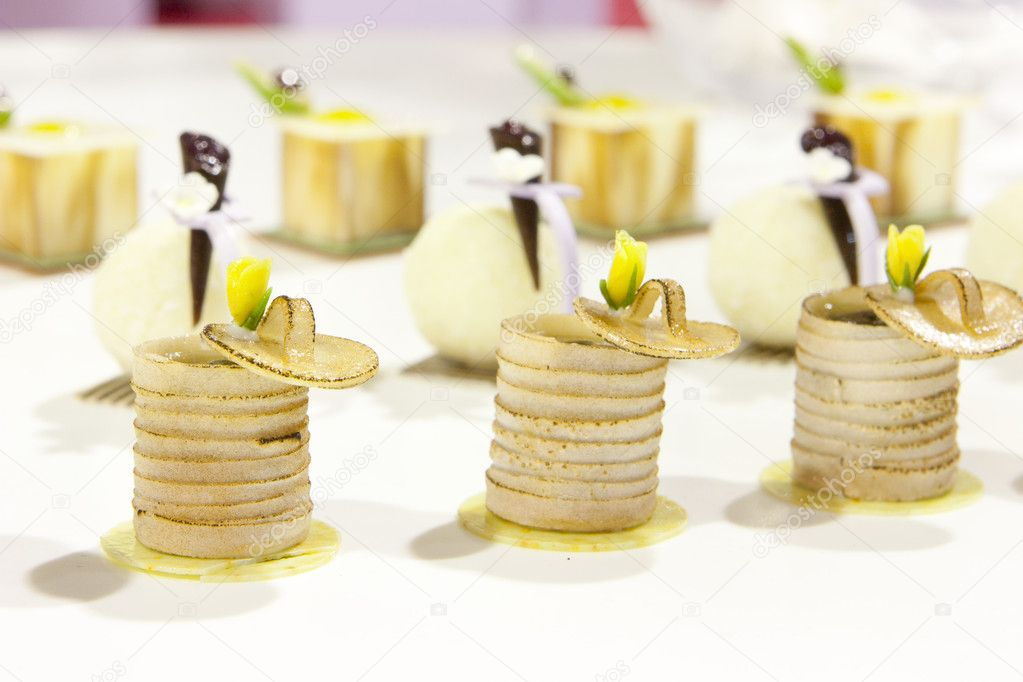 Small delicious finger Food art composition — Stock Photo #4327523