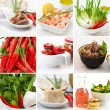Collage food — Stock Photo