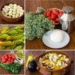 Vegetables collage - Stock Photo