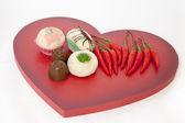 Amore cibo — Foto Stock